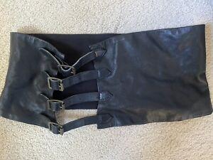 Scanlan & Theodore Black Leather Corset Belt. Excellent Condition