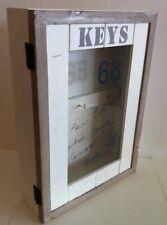 Schlüsselkasten*Schlüsselschrank* Schlüsselbrett Landhausstill Holz Glastür