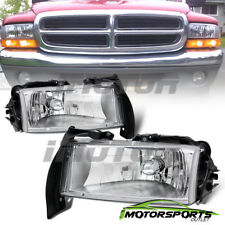 1997-2004 Dodge Dakota/1998-2003 Durango Factory Style Chrome Headlights Pair