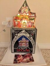 Creepy Hollow 1998 Candy Costume Barbershop Lighted Porcelain Eerie Estate