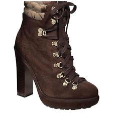 Coach Carol Waxed Suede Logo High Heel Boots Size 8M NWB $298 Style A7367