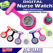 ELECTRIC DIGITAL MULTI FUNCTION MEDICAL NURSE BROOCH PENDANT POCKET FOB WATCH