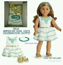 American Girl Lea Clark's Celebration Outfit White Dress NEW IN BOX *NO DOLL