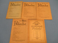 5 ISSUES OF THE AMERICAN PHILATELIST STAMP MAGAZINE 1949//1952 SOFTCOVER