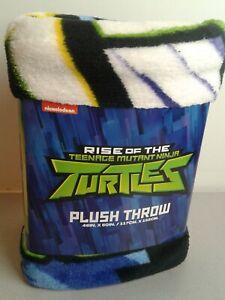"Rise Of The Teenage Mutant Ninja Turtles 46""x60"" plush throw - NIP"