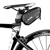 WILD MAN Bicycle Reflective Saddle Rear Tool Bags Road Bike Seat Tail Hard Bags