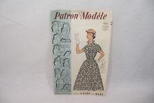 Ancien PATRON Modèle 1950 ROBE n°60503 Taille 42-44-46 L'ECHO de la MODE