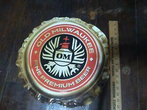 """2004 Old Milwaukee Beer Cap 15""""  Tin Sign"""