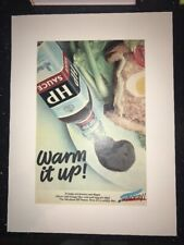 More details for hp brown sauce advert original vintage from magazine in 1974 - mounted
