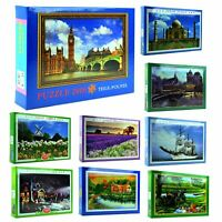 1000-2000 Piece Jigsaw Puzzles Games Animals Landscapes Cities Educational Toys