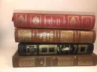 EASTON PRESS/FRANKLIN LIBRARY 4 Volumes Wear Abrasions Paint On Spine Leather