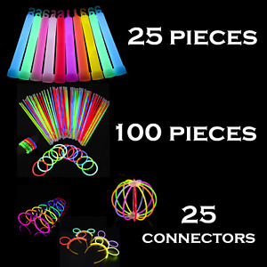 GLOW STICKS MEGA PARTY PACK  INC 150 pieces CONNECTORS ~  in CHRISTMAS Halloween