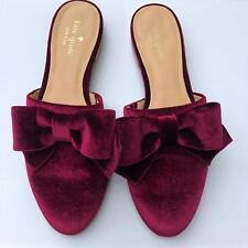 Kate Spade Women's Closed Toe Small Block Heel Ladies Slippers Purple Bow Style