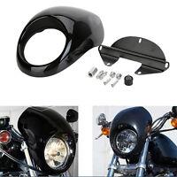 Headlight Cowl Fairing Mask Visor Cover For Harley Davidson Dyna Sportster FX XL