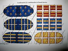 28 mm Médiéval Renaissance italienne guerres Landsknecht In French Service Drapeaux 2