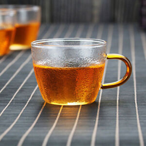 Glass Cup Heat resistant Glass Water Cup With Handle Tea Milk Drink Juice CuHG