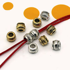 Metal  Spacer beads Tibetan Silver Craft  Big Hole Finding  Jewelery