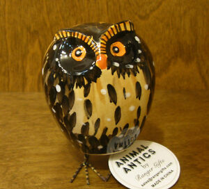 "ANIMAL ANTICS #4830-7 OWL BOBBLE BODY 3.75"" NEW From Retail Store by RANGER"
