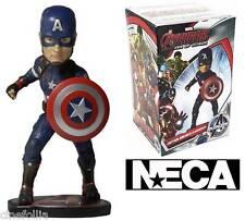 Bobble-head Captain America Marvel Avengers Age of Ultron Head knocker Neca