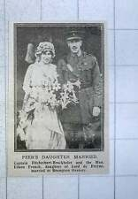 1917 Captain Fitzherbert Brockholes And Hon Eileen French Marries Brompton Orato