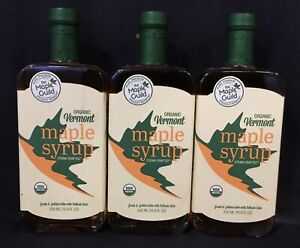 3-PK The Maple Guild Organic Vermont Steam-Crafted Maple Syrup, 16.9 fl oz Ea.