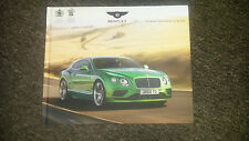 Bentley Continental Range MY16 HARDBACK Large Format Sales Brochure 126pg