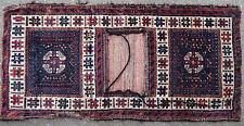 Double sacoche tapis ancien antique rug Double Afghan 20e siècle
