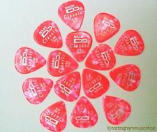 15 pink 0.84mm celluloid plectrums picks for electric or acoustic guitar strings