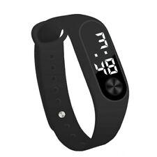 Mens Womens Kids Sports Digital Soft Silicone Rubber LED Bracelet Wrist Watch