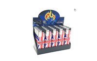 2 x ELECTRONIC LIGHTERS REFILLABLE ADJUSTABLE FLAME UNION JACK