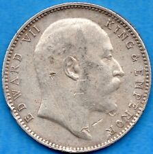 India 1903 One Rupee Silver Coin - Circulated