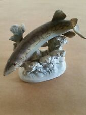 "Porcelain Pike Fish Pickerel 7"" x 6"" x 3"""
