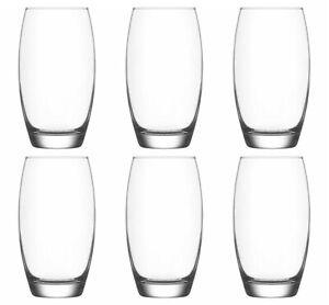 HiBall Glasses Water Juice Highball Drinking Tumbler Juice Glass 510ml Pack of 6