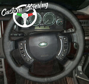 FOR RANGE ROVER L322 VOGUE 02-12 REAL BLACK LUXURY LEATHER STEERING WHEEL COVER