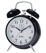 Acctim Keywound Saxon Black Alarm Clock Luminous Manual Old Style Traditional