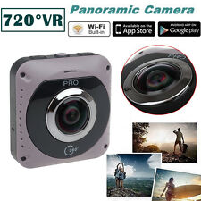 GV720B 360 VR Camera 220Degree Fish Eye Lens Video Built in Wifi 2600mah Battery