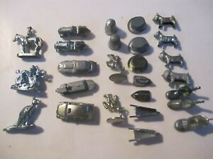 Lot Vintage & Modern Monopoly Pieces Metal Tokens