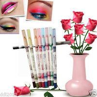 12 Colors Glitter Eye Shadow Eyeliner Lip Liner Pencil Pen Cosmetic Makeup Set