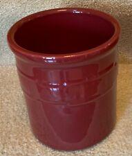 Longaberger Pottery Paprika Woven Traditions Large 2 Qt Crock Utensil Holder