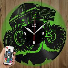 LED Vinyl Clock Monster Truck LED Wall Art Decor Clock Original Gift 5656