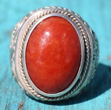 Vintage Sterling Silver 925 Agate Ring (size 8.5)(9g)