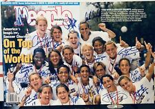 Rare 1999 Women's World Cup US Soccer Signed People Magazine by 19!  Psa/Dna Coa
