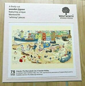 Wentworth wooden jigsaw puzzle whimsy - 75 pieces Orlando Marmalade Cat