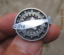 vintage BARBOUR bikers fishing PIN