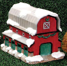 """Reindeer Stable Barn Village House 7"""" x 8"""" x 6"""" Ceramic Bisque, Ready To Paint"""
