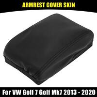 Center Console Lid Cover Armrest Pad Black for VW Golf 7 Golf Mk7 2013-2020