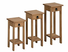 Mercers Furniture CORONA Plant Stands - Pine Set of 3