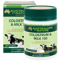 New Australian By Nature Colostrum Milk Tablets 50IgG 250 tabs ABN Immune Boost