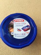 Pyrex Round Cook & Go Lidded Dish 1.6L Blue BN