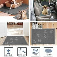 Rectangle Large Non-Slip Rubber Mat For Dogs Cats Pets Mat For Food Water - Grey